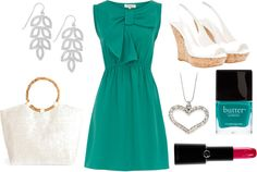 beachy and teal, created by jamie-lynn-gallagher on Polyvore