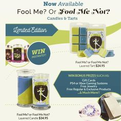 April is approaching faster than I ever expected.... For a limited time only... Experience our Fool Me Not candle/tart for some amazing prizes.... ::: Come visit http://ift.tt/1IeUHGb  #candles #ecofriendly #healthy #lush #sale #nvusddjic #jewelry #homedecor #interiordesign #spa #relax #yogi #sahm #bosslife #fruit #spring