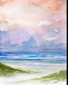 Seashore Sunset Painting by Rosie Brown - Seashore Sunset Fine Art Prints and Posters for Sale