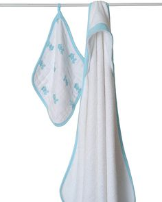 """aden + anais """"Hide and Sea"""" Hooded Towel and Washcloth Set on InStyle!"""