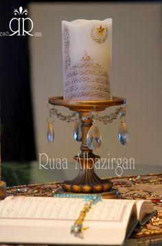 Ramadan by Ruaa Rose .....رمضان كريم Ramadan, Ikea Candles, Fountain, Barware, Rose, Pink, Water Fountains, Roses, Tumbler
