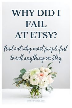 Why most people fail at selling on Etsy - Oh She Creates - - Like most sellers, I began selling on Etsy with big dreams. Find out here the main reasons why most sellers fail to sell Etsy, including me. Craft Business, Creative Business, Business Ideas, Tshirt Business, Making Money On Etsy, Starting An Etsy Business, Curriculum Vitae, Etsy Seo, Cricut