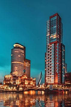 Rotterdam Netherlands, Tower Building, Work Family, Eindhoven, City Photography, City Buildings, Skyscrapers, Delft, Cityscapes