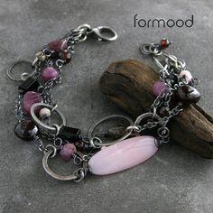 form 03 .... bransoletka z turmalinem, opalem różowym, granatem i rubinami Biżuteria Naszyjniki formood
