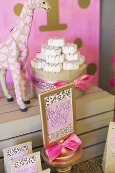 Pink & Gold Safari Glam Birthday Party Ideas | Photo 4 of 17 | Catch My Party