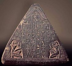 very few have seen these  Pyramidion of Amenhotep-Huy- #Egypt would love to know what this says