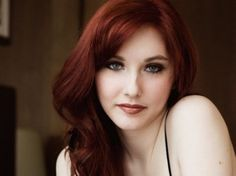 Red hair skin girls with light