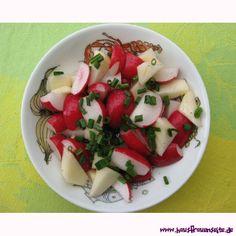 Apfel-Radieschen-Salat der Apfel-Radieschen-Salat ist ein Allrounder unter den Salatrezepten vegetarisch vegan laktosefrei glutenfrei