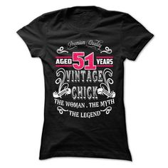 AGED 51 YEARS VINTAGE CHICK - #fashion #funny hoodies. CHEAP PRICE => https://www.sunfrog.com/Birth-Years/AGED-51-YEARS-VINTAGE-CHICK-Ladies.html?id=60505