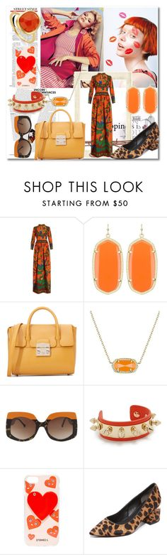 """""""Color Crush!!"""" by stylediva20 ❤ liked on Polyvore featuring Magdalena, Gucci, Kendra Scott, Furla, Aurélie Bidermann, Iphoria, Alexander Wang and Monica Vinader"""