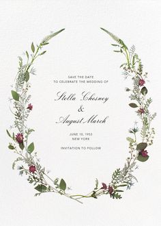 Winter Wilds (Tall Save the Date) - Paperless Post