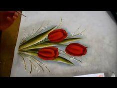 Tulipas Coloridas em Toalhinha (Aula 82/ Parte 1) - YouTube