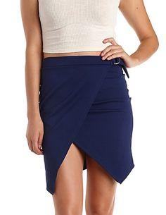 Ring-Belted Asymmetrical Wrap Skirt #CharlotteLook #skirt