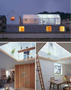 Translucent Rooftop Sheds Let Light Into Japanese Home | Designs & Ideas on Dornob