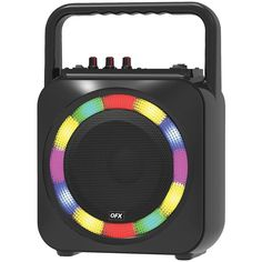 Light up the party QFX in. Portable Party Speaker is equipped with cutting-edge Bluetooth Chipset technology and a in. Great sound quality is what you can expect, because of the subwoofers Led Disco Lights, Party Speakers, Toddler School, Light Ring, Electronic Recycling, Bluetooth, Smartphone, Usb, Charging Cable