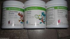 3 HERBALIFE STRAWBERRY SHAKE MIX FOR KIDS 18 SERVINGS 14.6OZ