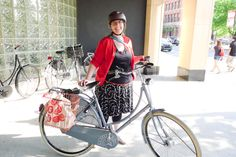 My friend holly with her adorable bike!