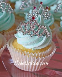 Princess Cupcakes with Mini Tiaras