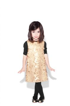 Little Marc Jacobs winter 2012 stunning lazer cut leather dress, a mini me look from the main Marc Jacobs collection