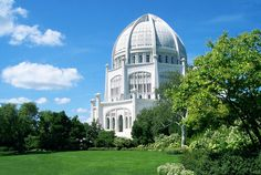Bahai Temple in Chicago...visited this several times....love, love, love the serenity I feel when I sit and meditate inside.  I try to visit each time I go to Chicago