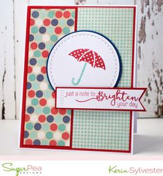 SPDMIX3 SugarPea Designs Gift Certificates, Brighten Your Day, Clear Stamps, Card Making, Challenges, Paper Crafts, Kites, Crafty, Umbrellas
