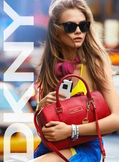 Color blocks #fashion #trend   Cara Delevingne #DKNY Spring Summer 2013 Add Campain