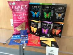 Luke's Organic product display Organic Chips, Product Display, Brown Rice, Passion, Snacks, Coffee, Drinks, Food, Design