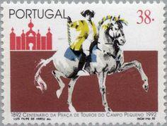 Tourada à Portuguesa - Tradição de longos séculos, onde é proibida a morte dos touros nas nossas arenas - Campo Pequeno - Lisboa - Portugal