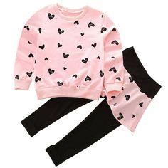 New Hartstring navy pink shirt pants girls 18 months
