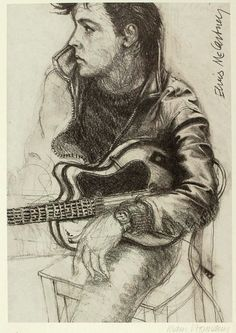 Young (Paul McCartney) by Klaus Voormann - The BEATLES (Caricature) Dunway Enterprises - http://dunway.us