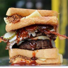 Grilled cheese buns. Italian sausage. Pulled pork. Bacon. Beef. God help our arteries.   @christinaorso   Like  Repost  Tag  Follow   @endlessboxcom https://endlessbox.com #endlessboxcom  #photooftheday #instagood #omg #hunter #badassery #hunting #tbt #ar15 #pistol #ak47 #freedom #gun #guns #merica #pewpew #happy #nra #badass #beast #glock #handguns #fullauto #wow #firearms #weapon #instamood #weapons #edc