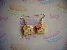 earrings bread kawaii