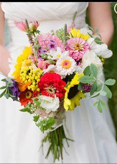 Just beautiful wild flower bouquets kick ass