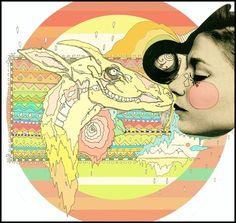 luv el chivo, la cabra  ( mixed media / digital art / illustration )