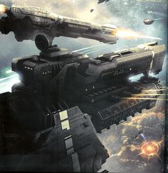 UNSC Paris Class and Strident Class Frigates Engaging Covenant Fleet