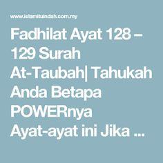 Fadhilat Ayat 128 129 Surah At Taubah Dengan Gambar Tahu