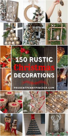 100 Best Rustic DIY Christmas Decorations Give your home a cozy makeover with these rustic Christmas decorations without breaking the bank. There are indoor and outdoor DIY Christmas decor ideas Dollar Store Christmas, Diy Christmas Gifts, Christmas Holidays, Homemade Christmas, Christmas Ideas, Diy Christmas Projects, Diy Christmas Village, Christmas Tables, Scandinavian Christmas