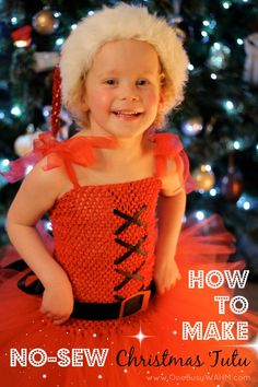How to make a Christmas tutu