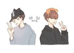 sehun kai cr.@imwlwl Exo, Chanyeol, Fanart, Drawings, Creative, Artist, Anime, Create, Artists