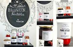 FREE Halloween Printable Food Jar Labels