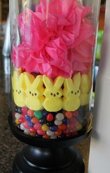 Peeps and jelly beans