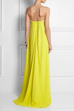 Cedric Charlier Strapless faille gown NET-A-PORTER.COM