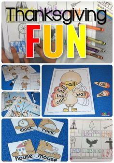 Thanksgiving FUN lessons for kindergarten
