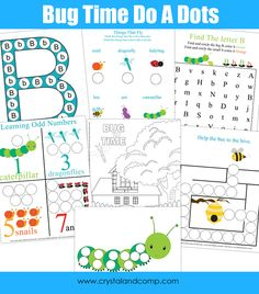 Bug Time Do-a-Dot Printables from Crystal and Co.
