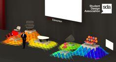 TEDxEdmonton  Exhibition Design - March 2010  Cardboard / Paper / 5'X38'X4'