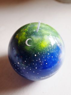 fantasy planet candle