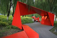 Innovative Urban Park Benches Outdoor Seating is part of Zaha Hadid architecture Train - Creative Ideas Of Park Seating From Around The World Folding Architecture, Landscape Architecture Design, Urban Architecture, Landscape Plans, Urban Landscape, Architecture Diagrams, Park Landscape, Architecture Portfolio, University Architecture