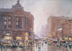 South Station - Rush Hour. About 1949. John Whorf, American, 1903-1959. Museum of Fine Arts, Boston