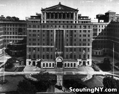 In 1736, Bellevue Hospital Center was the first to be opened in NY City. Several firsts are attributed to BHC such as the first in the nation with an accredited nursing school and first maternity ward. The building still exists as The Men's Shelter on 30th Street and First Avenue. It's hospital facilities has been moved to a new structure located a few blocks south on 27th Street.