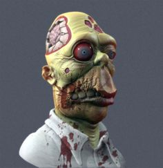 Cultural Compulsive Disorder: Homer Simpson Gets The Zombified Sculpture Treatment